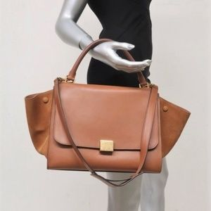 Celine Medium Trapeze Bag Brown Leather & Suede